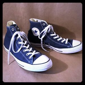 CONVERSE ALL STAR CT Blue Canvas High Top MINT!